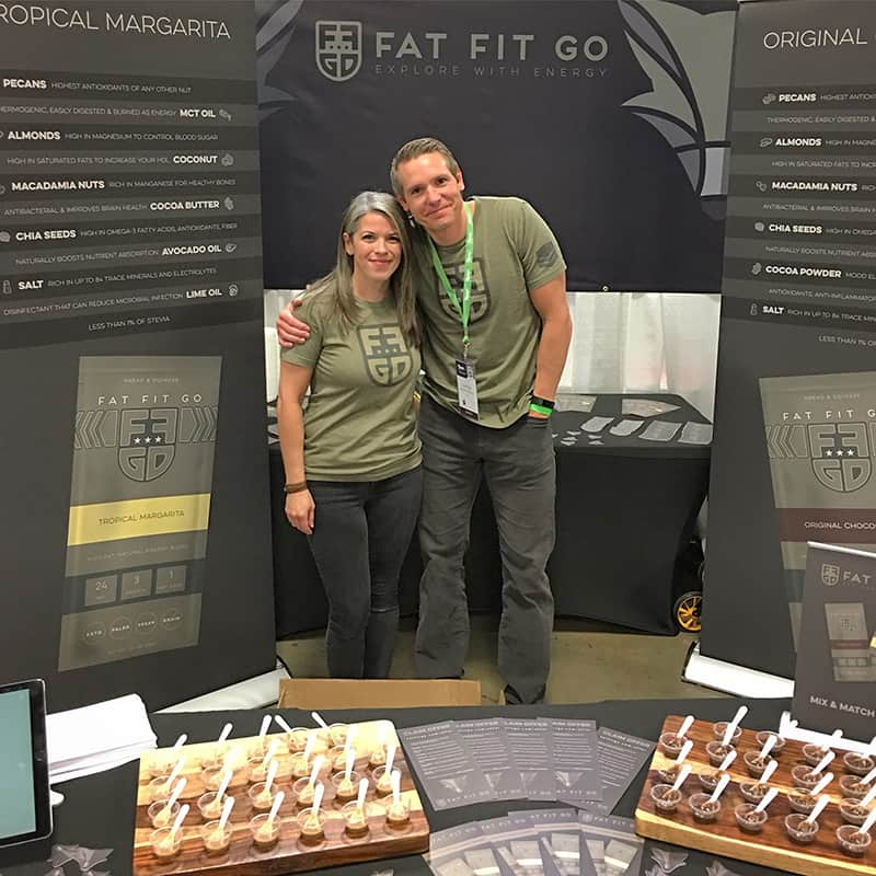 Rob and Kendra Benson at Paleo f(x) in 2018
