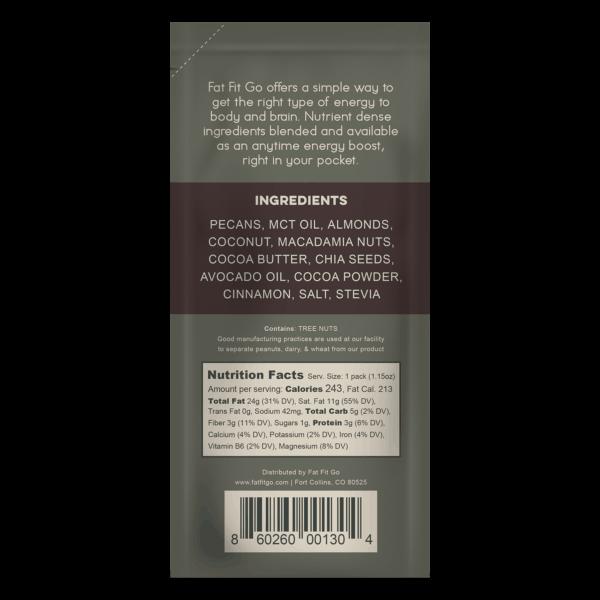 Fat Fit Go - Original Chocolate Nutritional Information