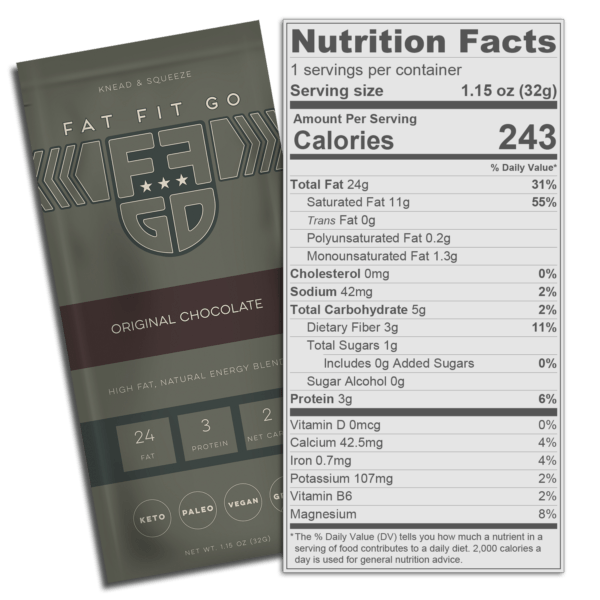 Fat Fit Go - Original Chocolate Nutritional Information