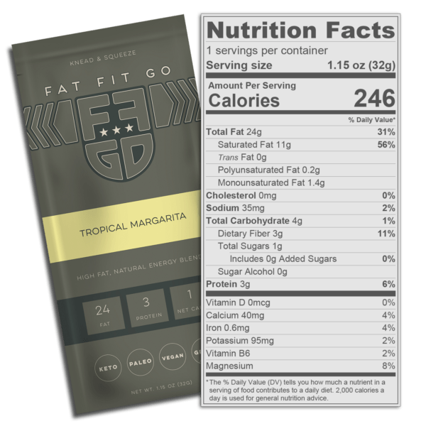 Fat Fit Go - Tropical Margarita Nutritional Information